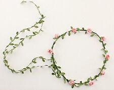 1PCS Peach Flower Crown Headband Hair Garland Bride Wedding Hair Accessories