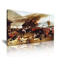 La difesa di rorke's DRIFT 1880 CANVAS WALL ART PICTURE PRINT 60x30cm