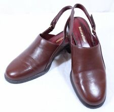 Naturalizer Size 9M Gamble Cognac Leather Slip On Shoes