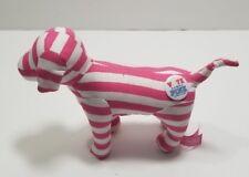 Victorias Secret PInk Plush Dog Stuffed  Animal White Striped Vote Pink