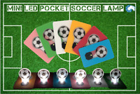 LUCE DI CALCIO Mini Soccer Flip Led Credit card sized Pocket light bulb Night