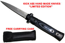 NEW Assisted Opening Knife BLACK Stiletto Assist Open Pocket Knife & Case