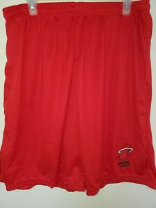 0724 BOYS YOUTH MIAMI HEAT Polyester Jersey SHORTS Embroidered RED W/Pockets New