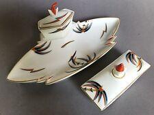 Art Deco Porzellan Schreibzeug Inkwell #S820 Hans Küster Kuester Rosenthal ~1926