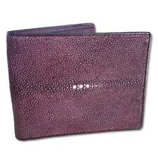 Exclusif MAROON Men Wallet Leather Wallet Stingray Skin Bifold original Genuine