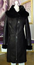 Luxus Designer Damen echter Lammfellmantel m  Toskana  Fell Gr.36  NEU