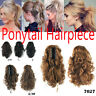 Stylish Curly Hair Clip In Hair Extensions Pony Tail Hairpiece Claw Ponytail