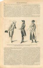 Histoire du Costume Frac Gilet Habit de Cheval Cabinet des Modes GRAVURE 1869