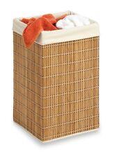 Bamboo Wicker Laundry Hamper Clothes Storage Towel Basket Bathroom Organizer NEW
