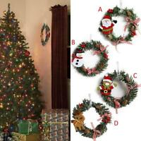 Mini Christmas Wreath Wall Door Hanging Ornament Garland Xmas Party Decor DIY