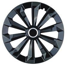 "4 x Radkappen FAME 15"" Zoll Ring Black Radzierblenden VW,SEAT,TOYOTA,OPEL,KIA"