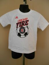 NEW W/TAGS MLS CHICAGO FIRE TODDLER 3T WHITE ADIDAS SCREEN PRINT SHIRT 13ZZ