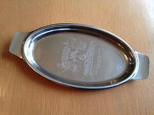 DUNEDIN, NEW ZEALAND - STAINLESS STEEL OVAL TRAY