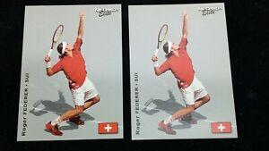 (2) 2003 Netpro Elite Roger Federer 1 of 2000 VERY NICE Rookie Cards PSA BGS GMA