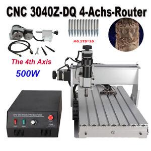 CNC 3040Z-DQ 4-Achs-Router 500W Gravur MACH 3 USB Fräsen Schneiden DIY-Maschine