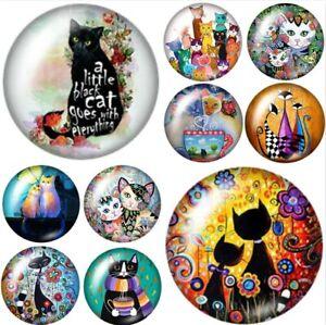Cat Magnet Fridge Gift Cat Lover Birthday Handmade Kitten Kitchen Decor New (TC)