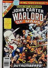 John Carter Warlord of Mars Annual #2 Marvel 1978 FN/VF Bronze Age Comic Book