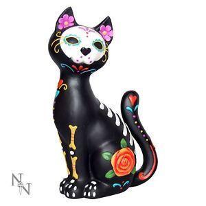 Sugar Kitty 26cm High Day of the Dead Cat Dia De Los Muertos