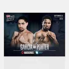 GARCIA vs PORTER BARCLAYS CENTER BROOKLYN TOPPS NOW SHOWTIME BOXING CARD #GVP-1