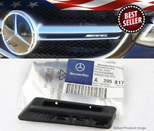 15-UP Black AMG Radiator Grill Emblem Model Plate For Mercedes W205 C-Class C63