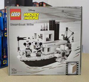 BOX DAMAGE * LEGO Ideas 21317 - Steamboat Willie (#025) NUOVO SIGILLATO RARO