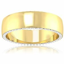 14k Yellow Gold 0.68Ct Natural Diamond Rings Mens Engagement Bands Size 10