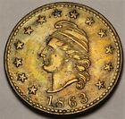 3/273 b R.6 Liberty Head / The Union For Ever Civil War Patriotic Token