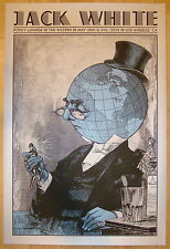 2012 Jack White - Los Angeles Silkscreen Concert Poster by Rob Jones S/N stripes