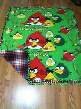 BLANKETS BY DARLENE TIED FLEECE ANGRY BIRD WITH RED PLAID BACK ...$45.00