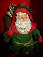 """1990 CLOTHTIQUE POSSIBLE DREAMS FATHER CHRISTMAS 11""""MIB"""