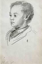 SMALL PORTRAITS PENCIL YOUNG BOY ANNA ALLISON C1878