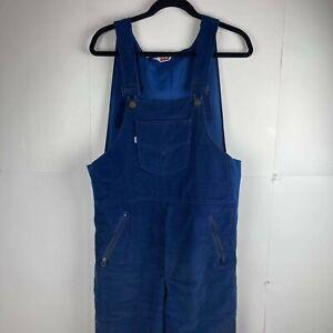 Vintage Levi's Blue Corduroy Bib Overalls Linin Size L Jumpsuit French workwear