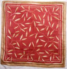 "Basha Ladies Polyester Scarf 22.5"" X 22.5"" Multi-Color Sheer Flora"