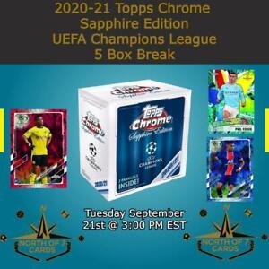 Charles De Ketelaere 2020-21 Topps Chrome Sapphire UEFA 5X Box Break #1
