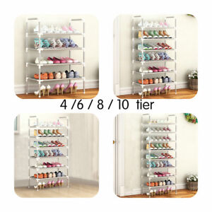 4/6/8/10 Tier Stackable Shoe Storage Rack Stand Shelf Stand Holder Space Saving