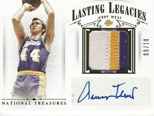 2014-15 National Treasures Lasting Legacies Jerry West 3-Color Patch Auto /10