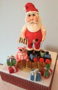 EDIBLE FATHER CHRISTMAS CAKE TOPPER DECORATION
