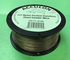 60 Pound Test Camo Acculon Leader Wire Downrigger Cable - 300 Feet