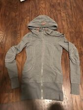 Lululemon Long full zip jacket gray / coral pink size XS (2)