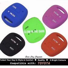 TOYOTA Silicone 2 Button Key Cover Case - Camry RAV 4 Corolla Avensis Yaris etc