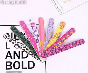 2x Colourful Double Sided Printed Nail Files - Large Multi Buy Discount