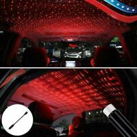USB Car Interior Atmosphere Starry Sky Lamp Ambient Star Red Light LED Proj R2U7