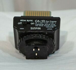 Sunpak CA-1D Interface Module for Canon A Series Cameras, Tested