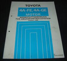 Werkstatthandbuch 4A-GE Motor Toyota Carina Abgaskontrollsystem Stand 08/1989!