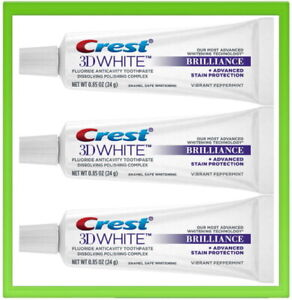 Crest 3D Teeth Whitening Toothpaste White Brilliance 3 x Tubes