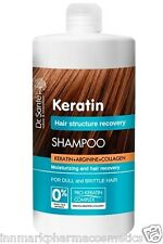 35438 Shampoo Keratin moisturising and hair recovery 1000ml Dr.Sante