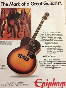 Brother Cane, Epiphone Guitars, Full Page Vintage Promotional Ad