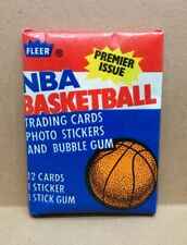 1986/87 86-87 Fleer Basketball Wax Pack with Michael Jordan Sticker #8 on back
