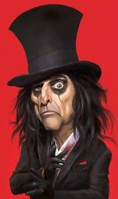 Alice Cooper School's Out Caricature 70's-80's Hard Rock, Sticker or Magnet