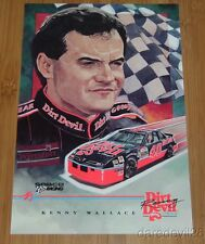 1993 Kenny Wallace Dirt Devil Pontiac Grand Prix NASCAR Winston Cup postcard